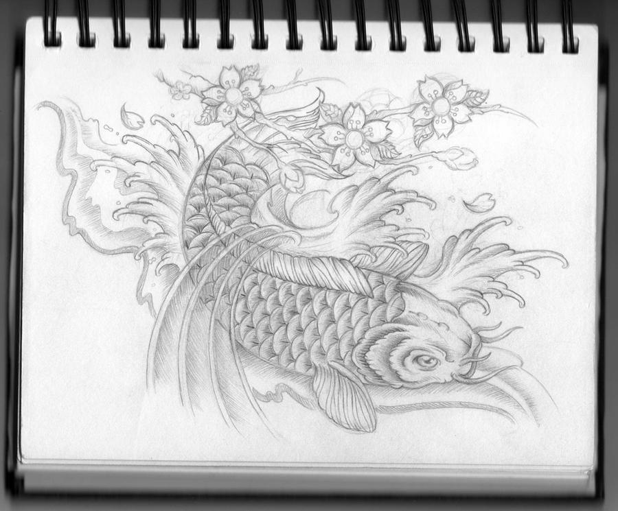 Koi Carp Art Koi Carp Tattoo Design by