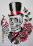 Gentleman Skull Design