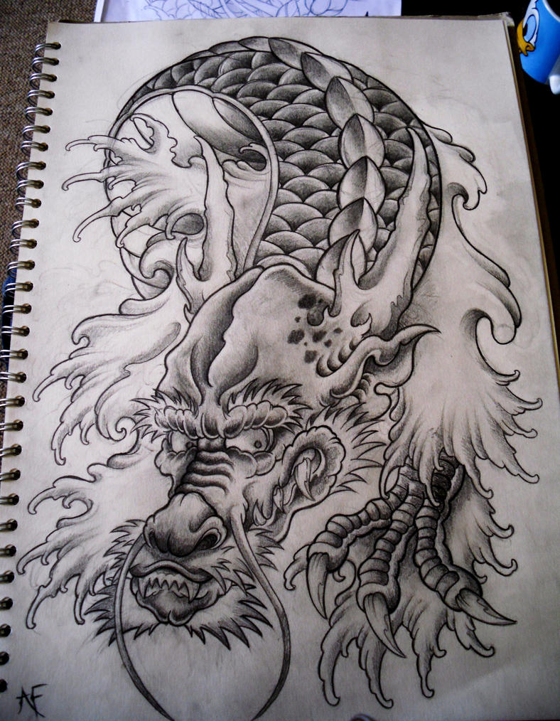 Japanese Dragon by ~Frosttattoo on deviantART
