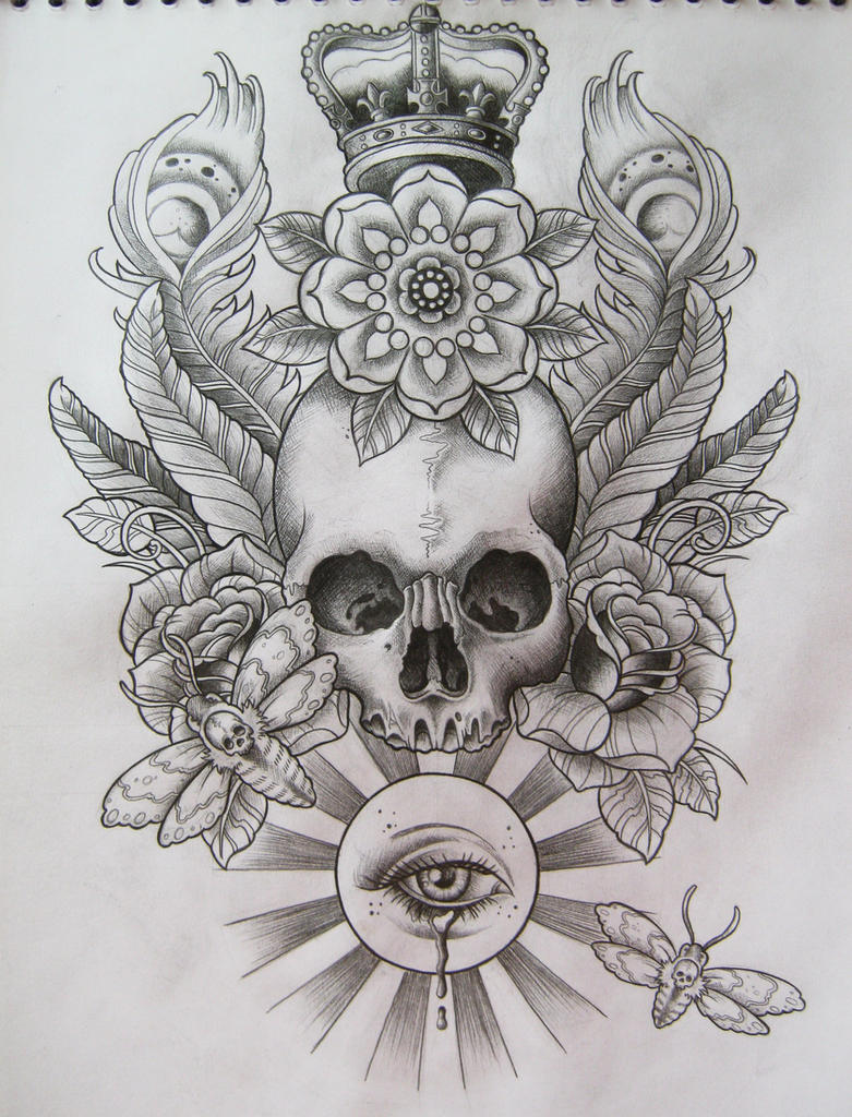 Skull T-Shirt Design by Frosttattoo