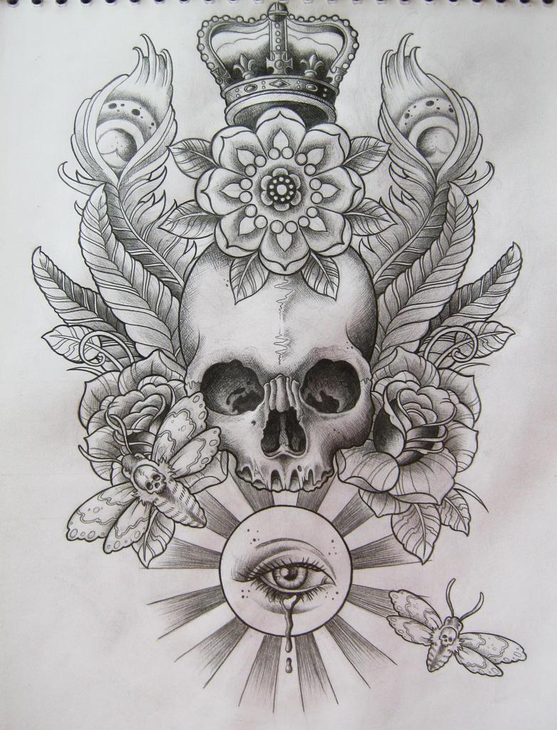Skull T-Shirt Design by Frosttattoo