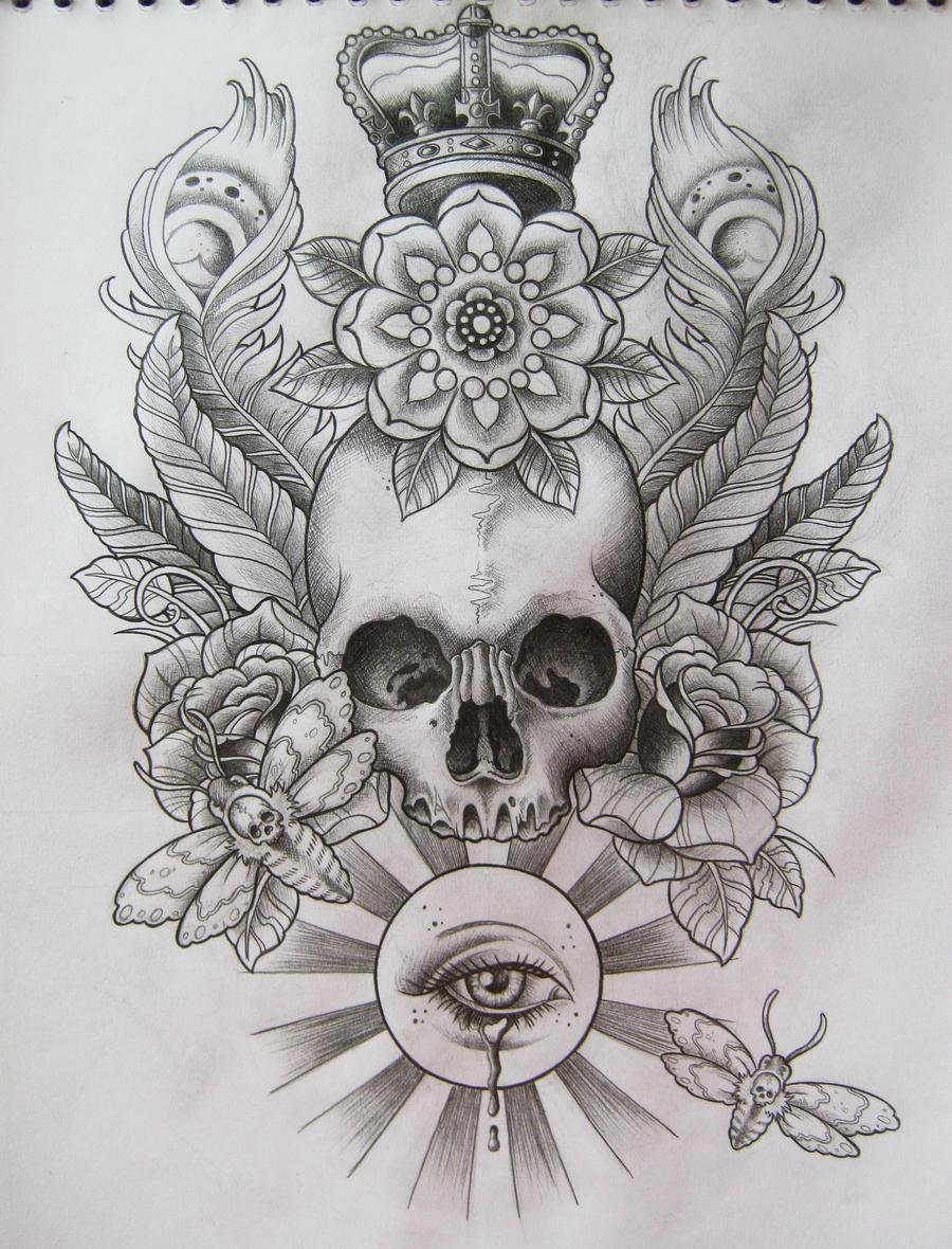 Design t shirt skull -  Skull T Shirt Design By Frosttattoo