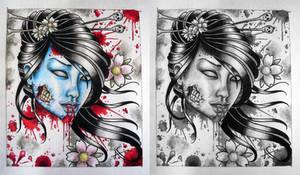 Zombie Geisha by Frosttattoo