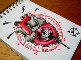Heart Flash Design by Frosttattoo