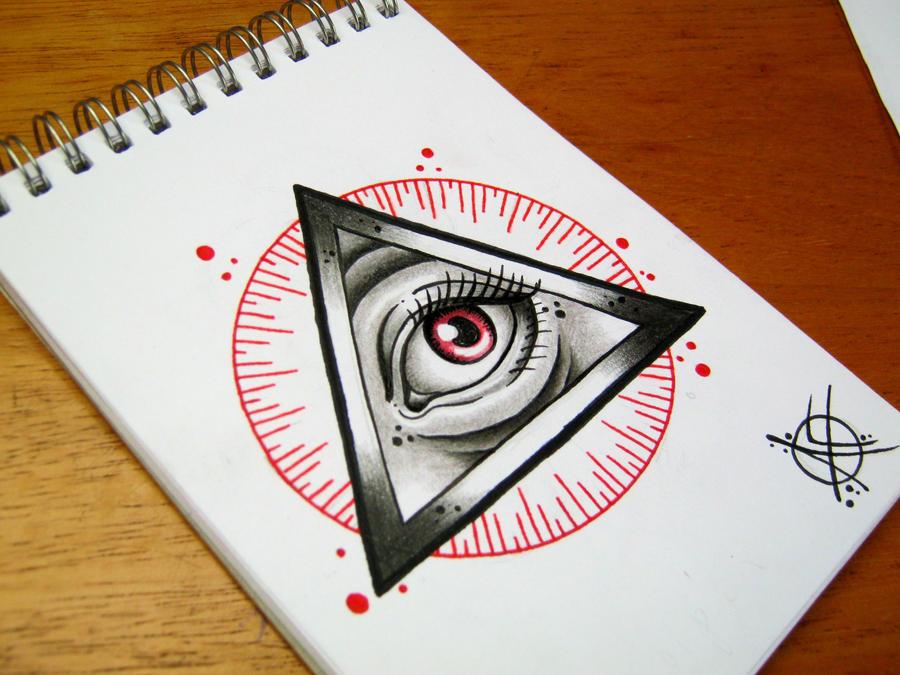 All Seeing Eye Flash Design by Frosttattoo