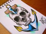 Skull Anchor Flash Design