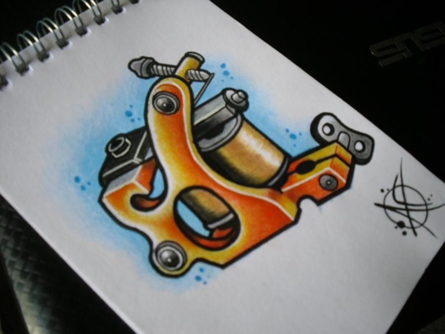 Tattoo machine pendant