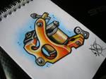 Tattoo Machine Flash Design