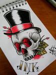 Gentleman Skull Flash Design