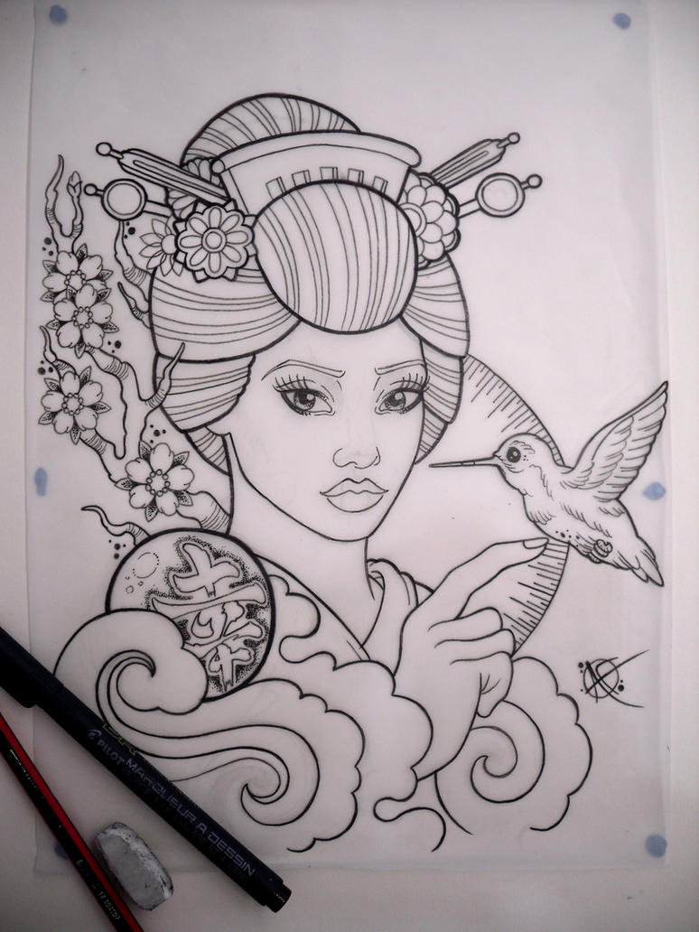Graceful Geisha by Frosttattoo