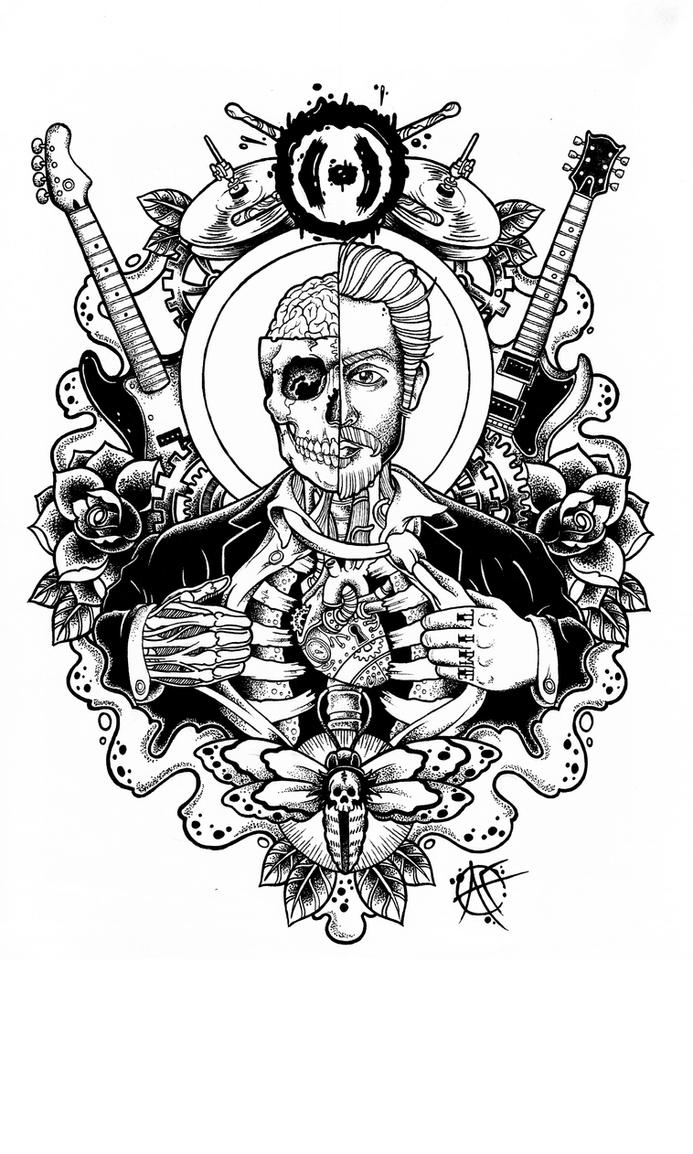 T Shirt Design Line Art : Commission tshirt design by frosttattoo on deviantart