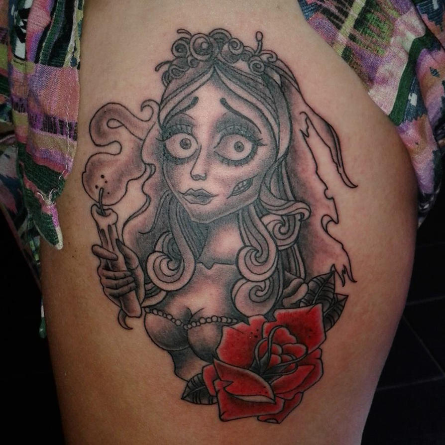 corpse bride tattoo by frosttattoo on deviantart. Black Bedroom Furniture Sets. Home Design Ideas