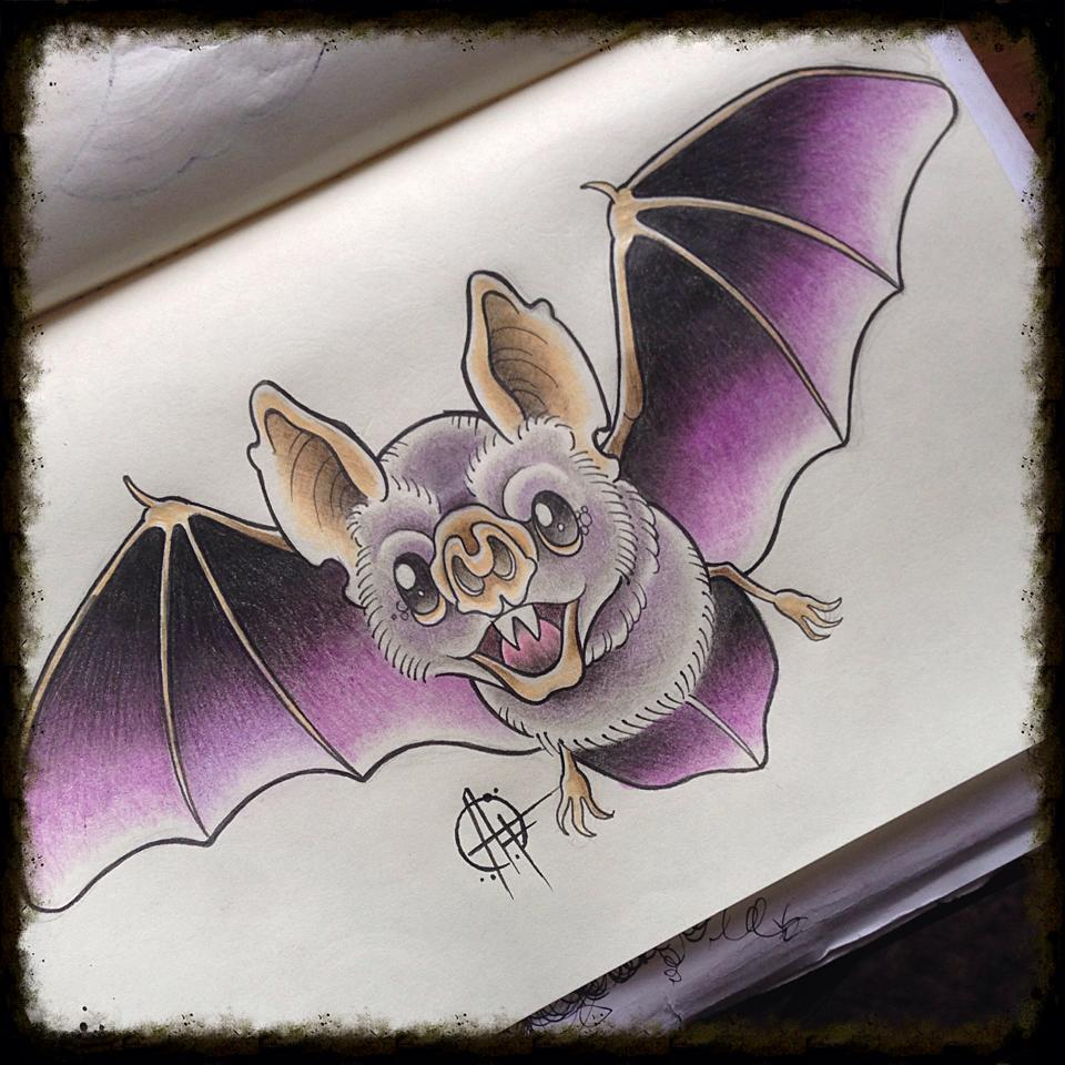 Vampire Bat Design By Frosttattoo