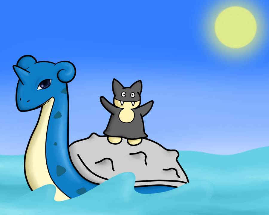 Lapras and Munchlax by square-panda