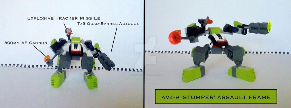 AV4-9 'Stomper' Assault Frame by Snowy-Aegis