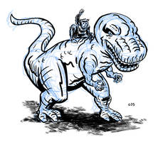 Devil Dinosaur and Moonboy by dennisculver
