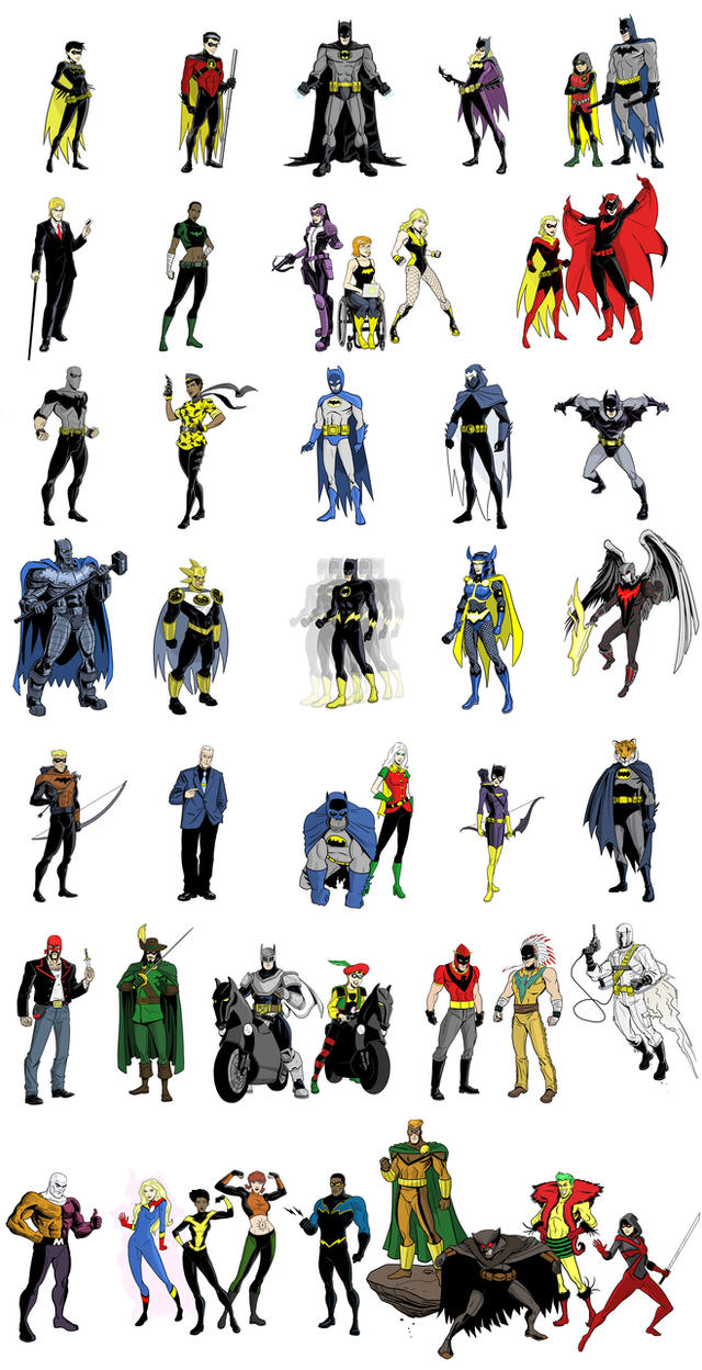 Batman Inc Lineup by dennisculver