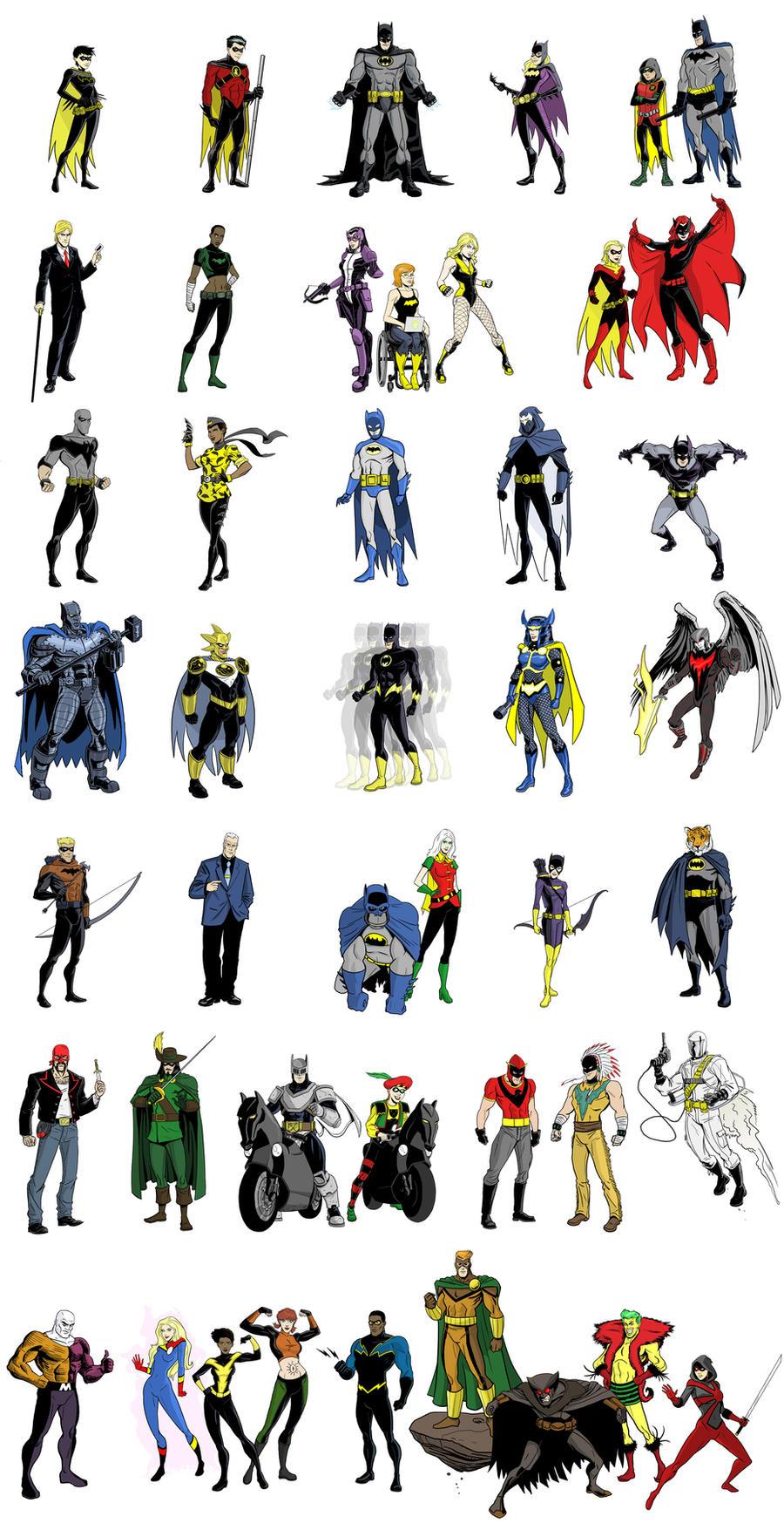 Batman Inc Lineup by dennisculver
