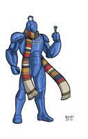 Iron Man Doctor Who Tardis Armor by dennisculver