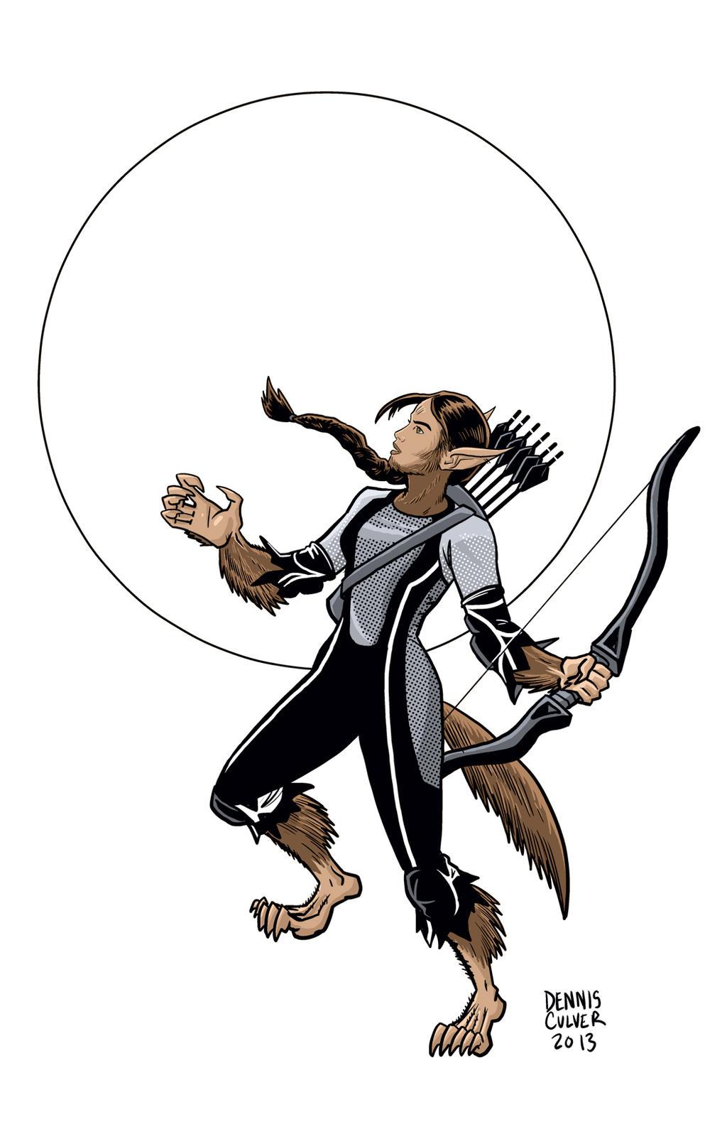Katniss Everdeen/ Werewolf by dennisculver
