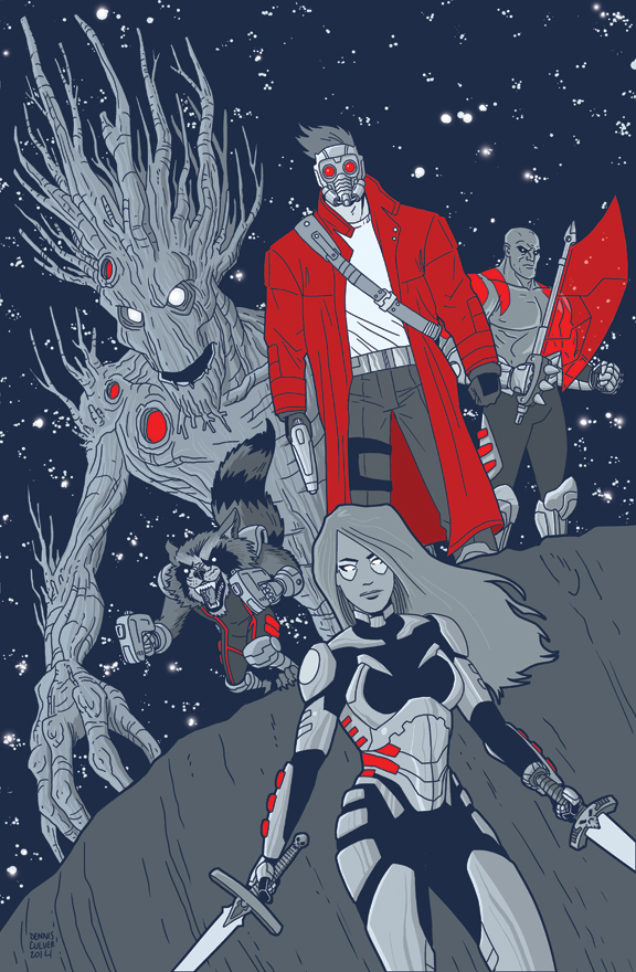 The Guardians of the Galaxy by dennisculver