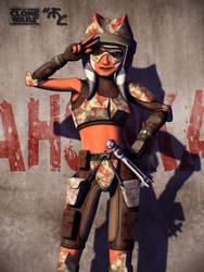 Ahsoka Red Camo Poster by Master-Cyrus