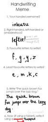 handwriting meme by inkusu