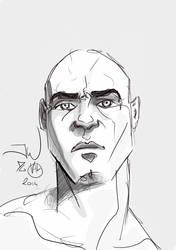 Random head smartphone doodle