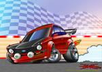 Drifting Escort mkII Toon by nailgungfx