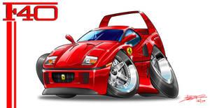 Ferrari F40 Toon by nailgungfx