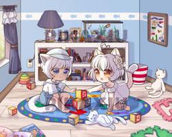 C: Yuki and Hanyuu by pikaxiu