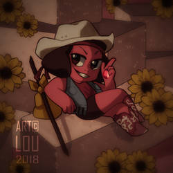 Why would she be a cowboy!!?? by pikaxiu