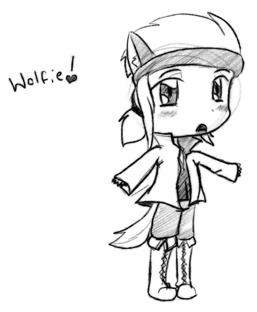 Wolfie Chibi by ShiroShototsu