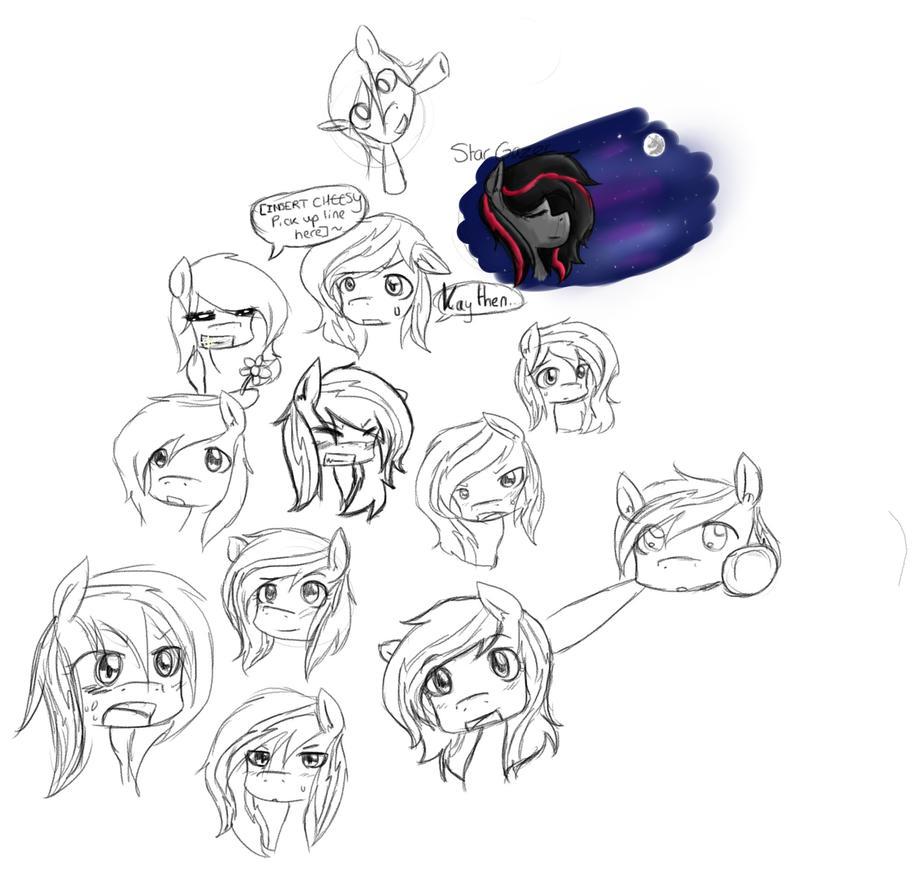 Star Gazer Sketch Dump Thing by ShiroShototsu