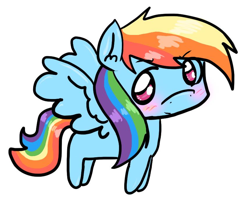 Rainbow Dash Chibi by ShiroShototsu