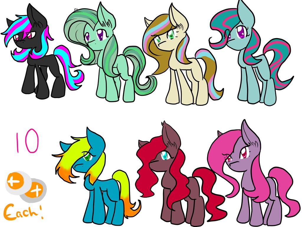 Pony Adopts by ShiroShototsu