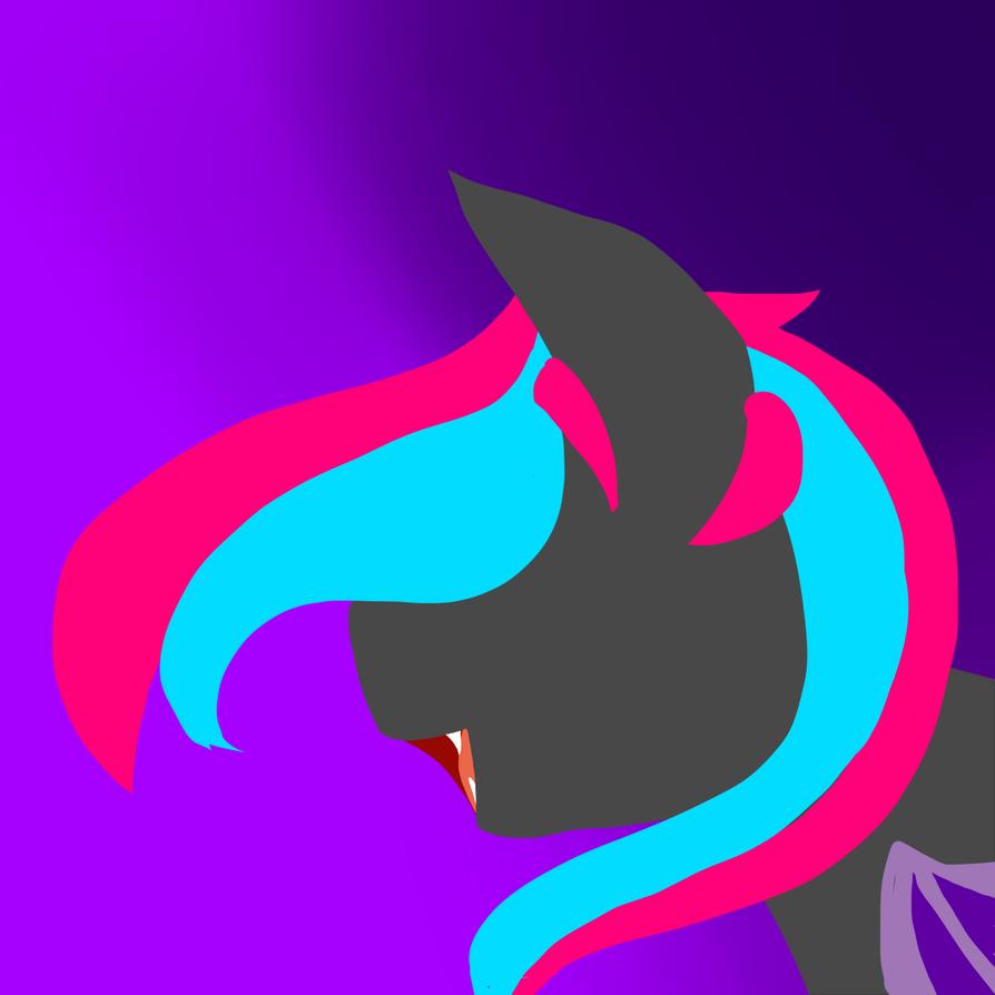 Neon Bat Pony Minimalism by ShiroShototsu