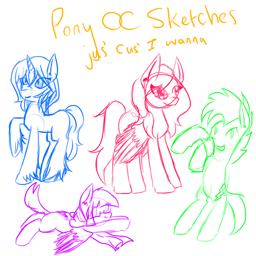Pony Oc Sketches by ShiroShototsu