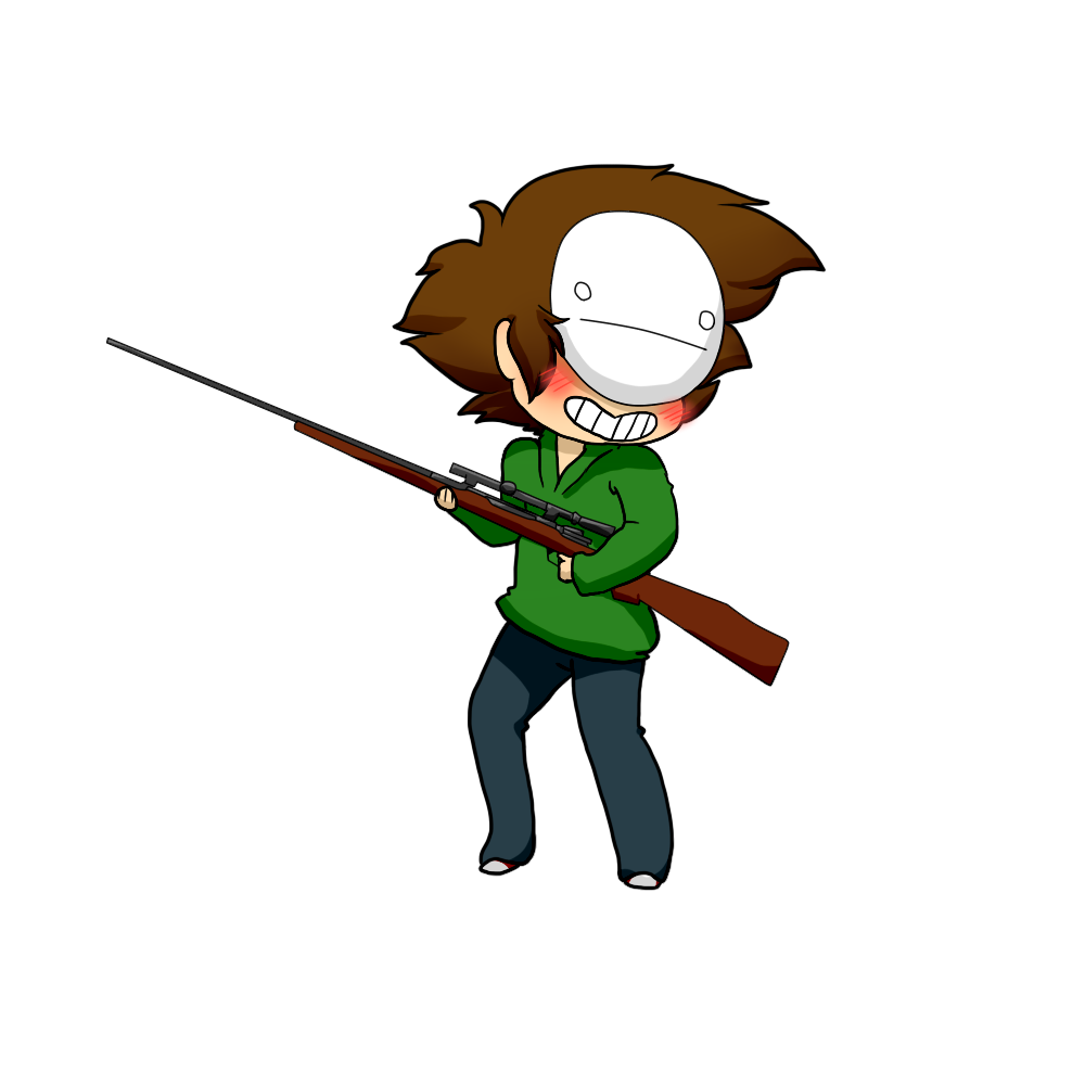 Chibi Cry with a hunting rifle by ShiroShototsu