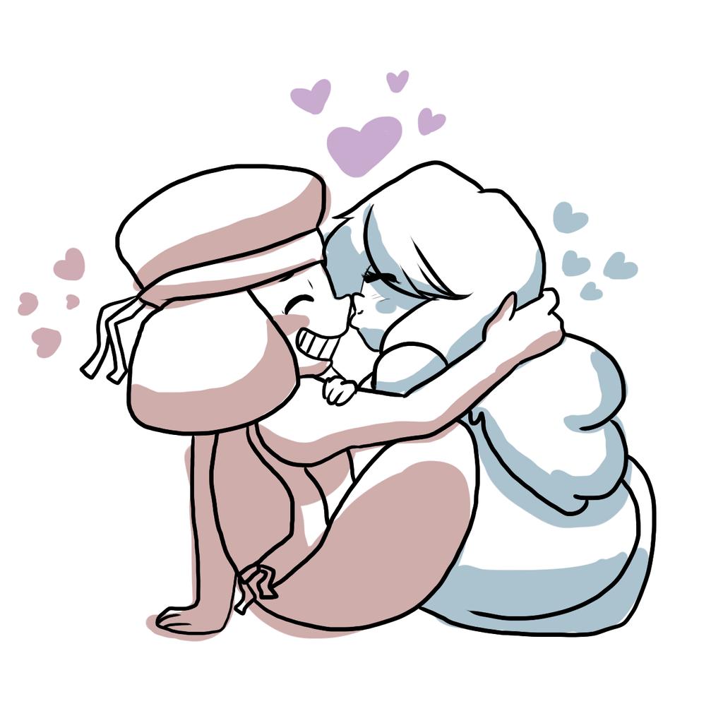 Sapphire and Ruby by ShiroShototsu