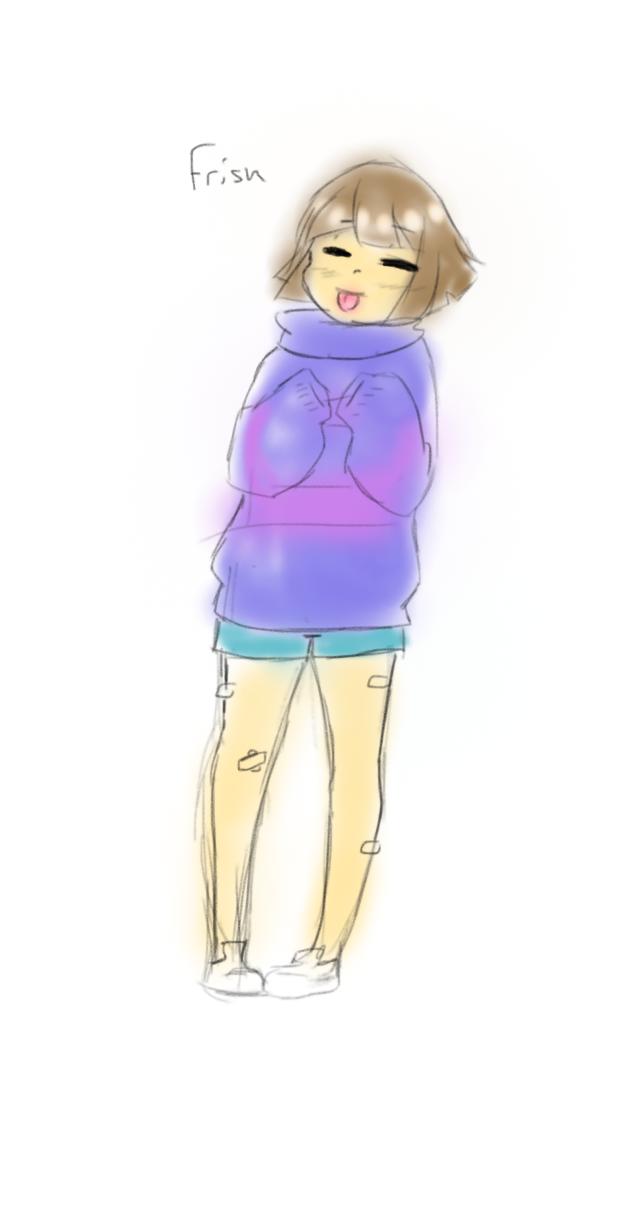Frisk Doodle by ShiroShototsu