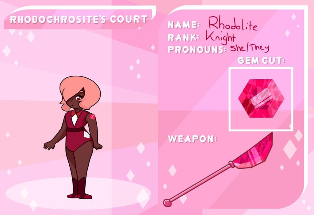 Rhodochrosite Court Application: Rhodolite by ShiroShototsu