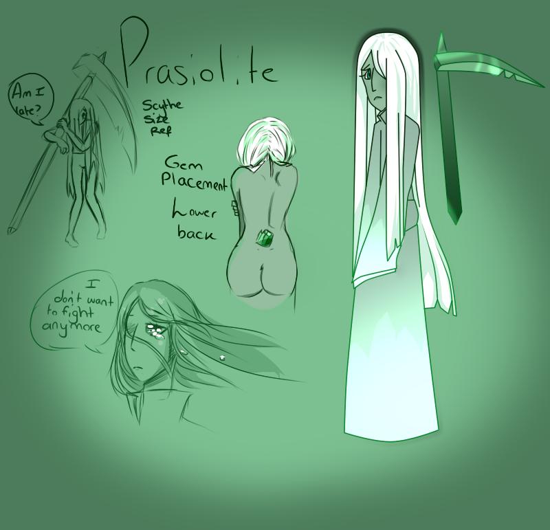 Prasiolite doodle ref by ShiroShototsu