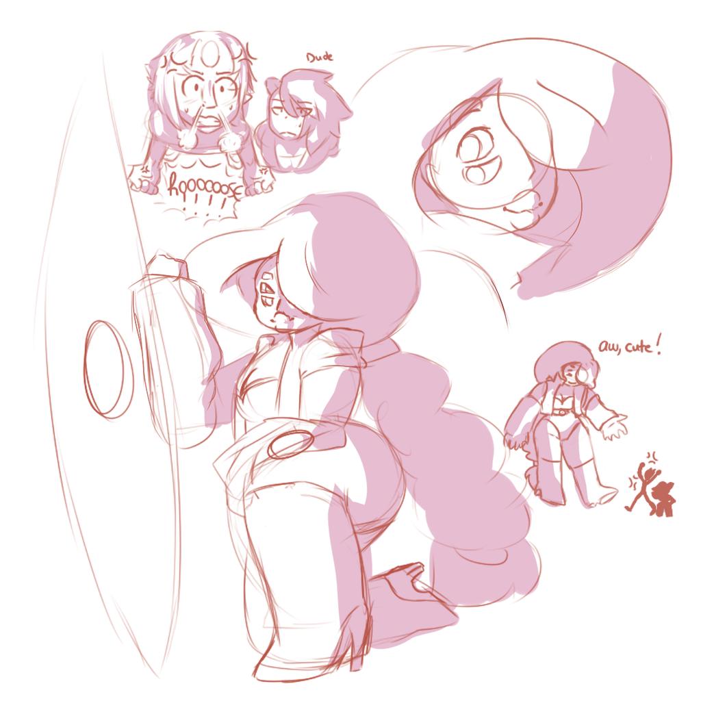 Miss Kunzite Sketches by ShiroShototsu