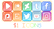 PastelJelly SocialMedia Icons!(USD, GBP or Points) by ShiroShototsu