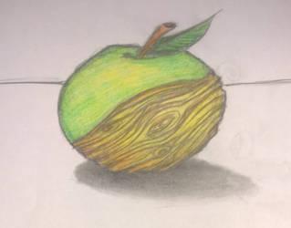 Wooden apple by jonasbl