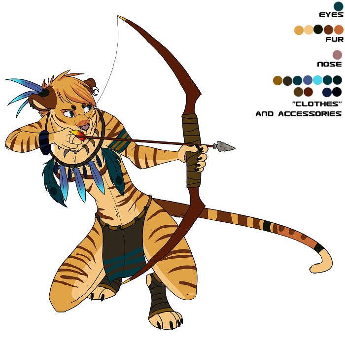 Anthro Tiger by Demicus-Maximus on DeviantArt