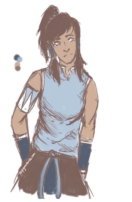 Korra scribble by lemonsrule