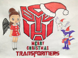 Merry Christmas Transformers by victoriadelgadomende