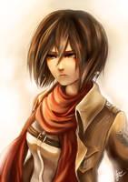 Mikasa Ackerman by Yuupewpew